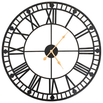 vidaXL Starinski zidni sat s kvarcnim mehanizmom metalni 60 cm XXL