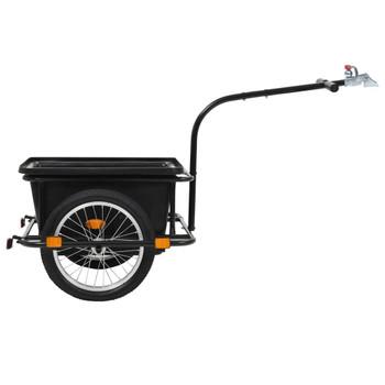 vidaXL Prikolica za bicikl crna 50 L
