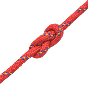 vidaXL Brodsko uže od polipropilena 10 mm 250 m crveno