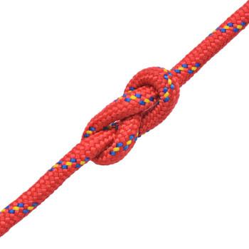 vidaXL Brodsko uže od polipropilena 12 mm 250 m crveno