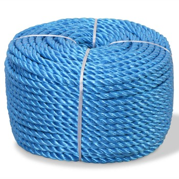 vidaXL Uvijeno uže od polipropilena 10 mm 250 m plavo