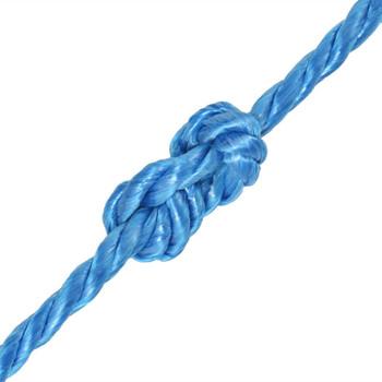 vidaXL Uvijeno uže od polipropilena 12 mm 500 m plavo