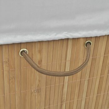 vidaXL Košara za rublje od bambusa pravokutna prirodne boje