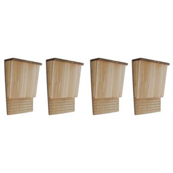 vidaXL Kućice za šišmiše 4 kom 22 x 12 x 34 cm drvene