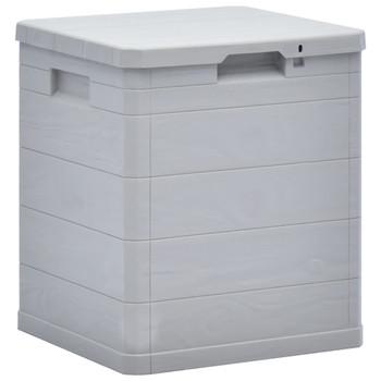 vidaXL Vrtna kutija za pohranu 90 L svijetlo siva