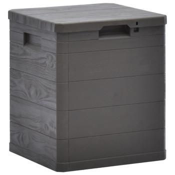 vidaXL Vrtna kutija za pohranu 90 L smeđa