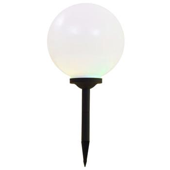 vidaXL Vanjske solarne LED svjetiljke 2 kom kuglaste 30 cm RGB