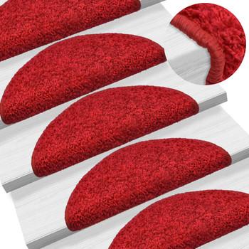 vidaXL Otirači za stepenice 15 kom crveni 65 x 25 cm