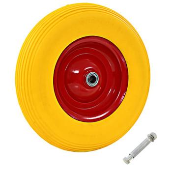 vidaXL Kotač za kolica s osovinom od čvrstog PU-a 4.00 - 8 390 mm