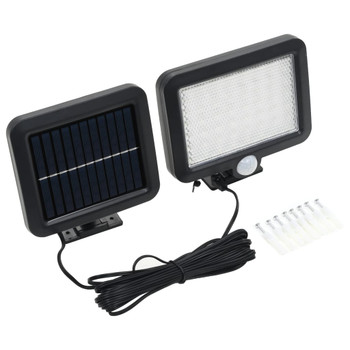vidaXL Solarna svjetiljka sa senzorom pokreta i LED žaruljama bijela