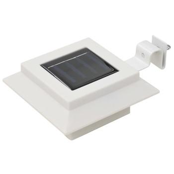 vidaXL Vrtne solarne svjetiljke 6 kom LED kvadratne 12 cm bijele