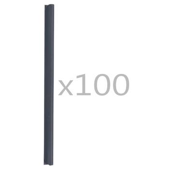 vidaXL Spojnice za ogradu 100 kom PVC antracit