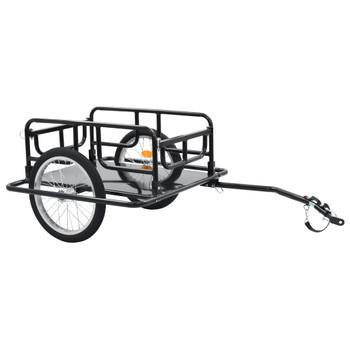 vidaXL Prikolica za bicikl 130 x 73 x 48,5 cm čelična crna