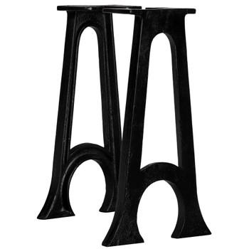 vidaXL Noge za klupu 2 kom u obliku slova A s lukom lijevano željezo