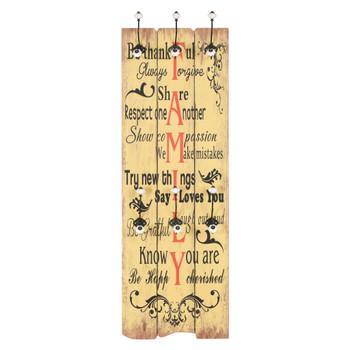 vidaXL Zidna vješalica za kapute sa 6 kuka FAMILY 120 x 40 cm