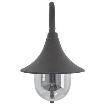 vidaXL Vrtna zidna svjetiljka E27 42 cm aluminijska brončana