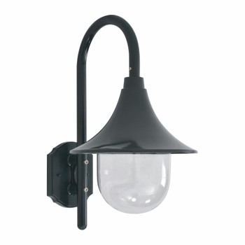 vidaXL Vrtna zidna svjetiljka E27 42 cm aluminijska tamnozelena