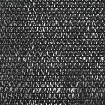 vidaXL Teniski zaslon HDPE 1 x 25 m crni