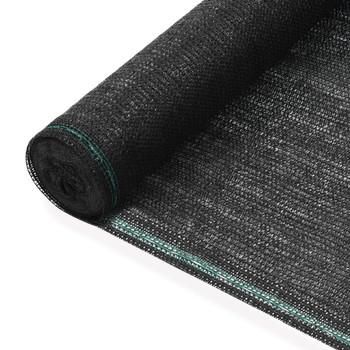vidaXL Teniski zaslon HDPE 1,4 x 50 m crni
