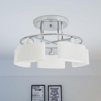 vidaXL Stropna svjetiljka sa staklenim sjenilima za 5 žarulja E14 200 W