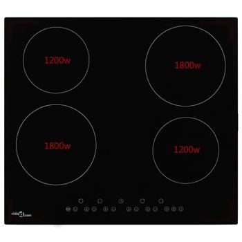 vidaXL Keramička ploča za kuhanje s 4 plamenika 6000 W