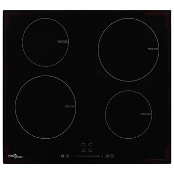 vidaXL Indukcijska ploča za kuhanje s 4 plamenika staklena 7000 W