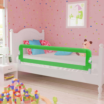 vidaXL Sigurnosna ogradica za dječji krevet zelena 120x42 cm poliester