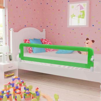 vidaXL Sigurnosna ogradica za dječji krevet zelena 180x42 cm poliester