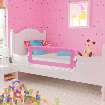 vidaXL Sigurnosna ograda za dječji krevet ružičasta 120x42 cm poliester