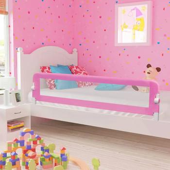 vidaXL Sigurnosna ograda za dječji krevet ružičasta 180x42 cm poliester