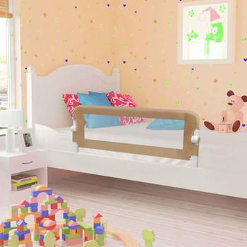 vidaXL Sigurnosna ogradica za dječji krevet bež 120 x 42 cm poliester