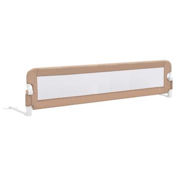 vidaXL Sigurnosna ogradica za dječji krevet bež 180 x 42 cm poliester