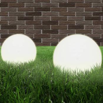 vidaXL LED kuglaste svjetiljke 4 kom 25 cm PMMA