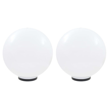 vidaXL LED kuglaste svjetiljke 2 kom 50 cm PMMA