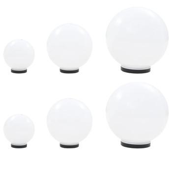 vidaXL 6-dijelni set LED kuglastih svjetiljki 20/30/40 cm PMMA