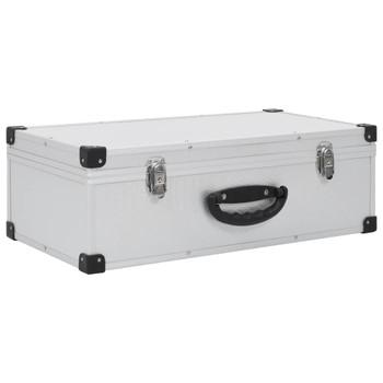 vidaXL Kutija za 80 CD-ova aluminijska ABS srebrna
