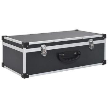 vidaXL Kutija za 80 CD-ova aluminijska ABS crna