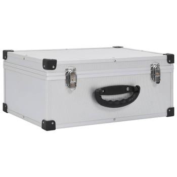 vidaXL Kutija za 60 CD-ova aluminijska ABS srebrna