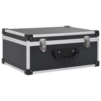 vidaXL Kutija za 60 CD-ova aluminijska ABS crna