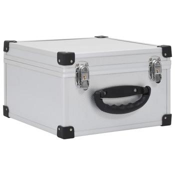 vidaXL Kutija za 40 CD-ova aluminijska ABS srebrna