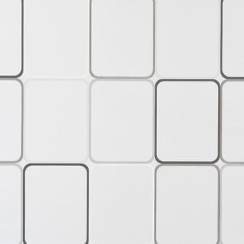 vidaXL Rolo zastor za tuš 160 x 240 cm s uzorkom kvadrata