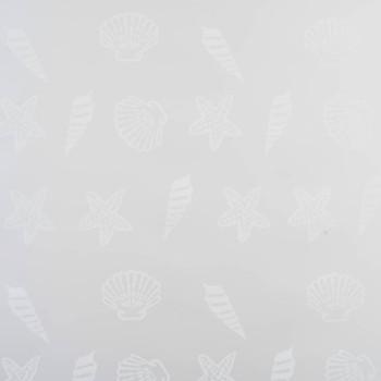 vidaXL Rolo zastor za tuš 80 x 240 cm s uzorkom morskih zvijezda