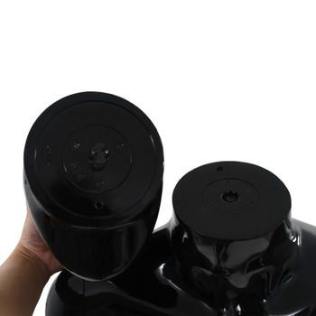 vidaXL Muška lutka za izlog sa staklenim postoljem crna sjajna 185 cm