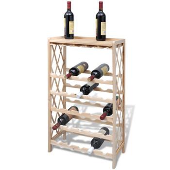 vidaXL Stalak za Vino za 25 Boca Drveni