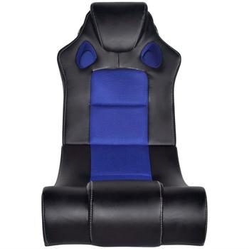 Crno-plava stolica za ljuljanje od umjetne kože s audio