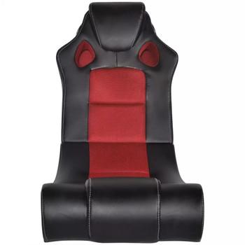 Crno-crvena stolica za ljuljanje od umjetne kože s audio sustavom