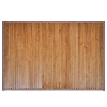 2 Prostirke za Kupaonicu Bambus 40 x 50 cm Smeđa boja