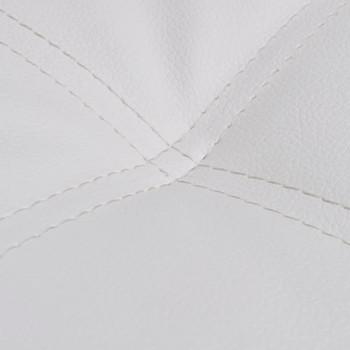 vidaXL Ležaj s Jastukom od Umjetne Kože Bijeli