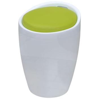 vidaXL Barska Stolica s Uklonjivim Sjedalom Umjetna Koža Zelena Okrugla