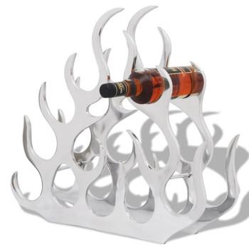 vidaXL Stalak za Vino za 11 Boca Srebrni Aluminijski